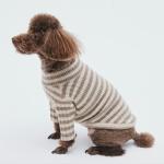 더샤인 캐시미어 100% 캐시미어 강아지 줄무늬니트