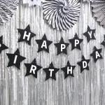 펠트 스타 생일가랜드 (블랙)