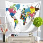 세계지도 디자인 패브릭포스터 (200*150)