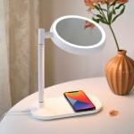 [무아스] 무선충전 LED 거울 멀티 무드등