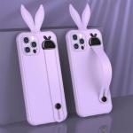 아이폰11 PROMAX 컬러 토끼귀 핸드 스트랩 젤리케이스