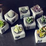 이니셜 DIY 시멘트 화분