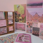 34장세트 핑크 컬러포인트 엽서세트