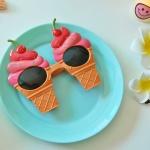체리 아이스크림 파티 안경