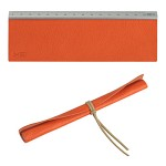 Leather ruler-orange