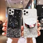 아이폰11 프로 맥스/미러 거치대 글리터 젤리 케이스