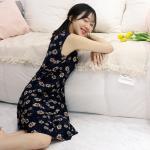 테라우드 여성용 여름 쿨 잠옷 냉장고 민소매 원피스
