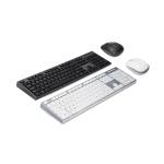 한성컴퓨터 GTune 멤브레인 무선 키보드 마우스 세트 HKM600WL (투톤컬러 디자인 / 2.4GHz 무선기술 / 멀티미디어 키)
