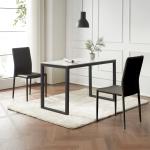안톤 세라믹 마블 식탁 세트A 1200 + 의자 2개포함