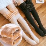 슬리미 밍크 퍼 안감 따뜻한 레깅스 겨울 스타킹