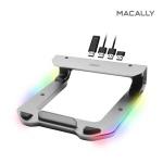 맥컬리 USB 4포트 허브 알루미늄 LED 노트북 거치대
