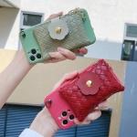아이폰11 PRO MAX 가죽 카드 지갑형 링 스트랩 케이스