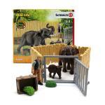 [슐라이히]코끼리 가족과 울타리