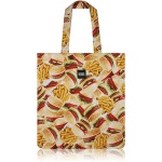 nother Buger & Fries Flat Tote Bag / 나더 햄버거 패턴 플랫 토트백