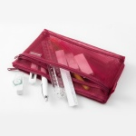 [LIMITED COLOR] Mesh Pouch - Wine Red
