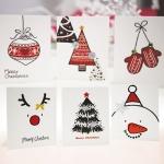 크리스마스카드/성탄절/트리/산타 미니세트 12종 set (FS511)