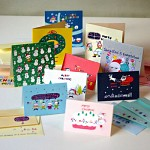 10 Christmas card SET . ver6