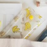 바나나 패턴 투명 펜슬케이스