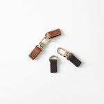 고급 천연가죽 여밈 장식 - 가방장식 테슬고리 디링