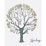 DIY 명화그리기키트 - 사랑 나무 40x50cm (물감2배, 컬러캔버스, 명화, 풍경화, 자연, 나무, 사랑)