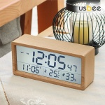 유즈비 리얼우드 LCD 온습도알람시계 시간날짜 집들이