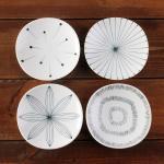 일본식기 에가와리 12cm 접시세트 4p