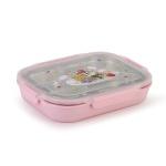 해피램 유아 4구 스텐 식판(핑크)