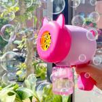 해피 피그캣 대형 자동 버블건 (핑크)
