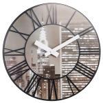 넥스타임 3005 렌티큘러 클라우드 뉴욕야경 벽시계