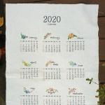 앤쏘라이프 린넨커트지] 2020년 달력 커트지 2size