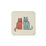 [울스터위버스] Cat Walk 컵받침 4P 세트