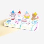 [인디고샵] 생일축하 프렌즈 입체 스탠딩 카드