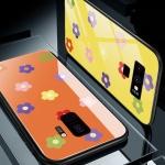 갤럭시/노트 플라워 강화유리 범퍼 하드 휴대폰케이스