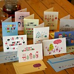 10 Christmas card SET . ver1