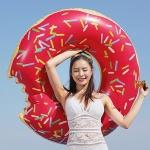 대형 딸기 도너츠 튜브 (120cm)-초컬릿도넛
