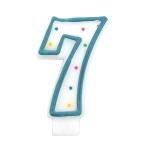 도트 숫자초7-블루