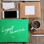 편집 웹 디자이너 스토리보드 스케치북 / 레이아웃 스케치 노트
