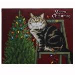 크리스마스 카드 STRINGING LIGHTS