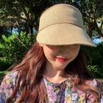 돌링 라탄 여름 여성썬캡 밀짚모자