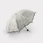 꽃비 UV차단 수동 우산 양산