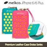 멜코 아이폰6 플러스 Premium Leather Dotzz Serie 스트랩 가죽 파우치{MKDZPHIP65}