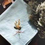프랑스자수 손수건 DIY 키트 - 미모사