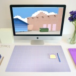 Simple Line Desk Mat [Lilac]