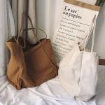 낫띵 에코백 빅사이즈 캔버스백 숄더백 천가방
