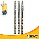BiC 미니언 이지스틱 볼펜 3입 (0.5mm)-흑(BLS)