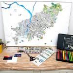 지구별 여행스케치  부산지도 - 화이트