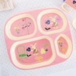 덴마크 유아식기 라이스 사각식판 어린이식판
