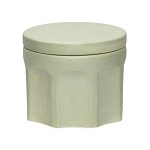 [Hubsch]Jar w/lid, round, ceramics, green 219004 원형정리함