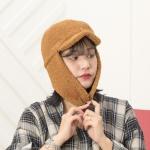 [지오바니]트래퍼햇 양털캡 귀달이/귀도리/털모자