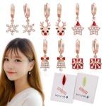 [크리스마스] 14K골드핀 귀걸이+플라워카드 세트